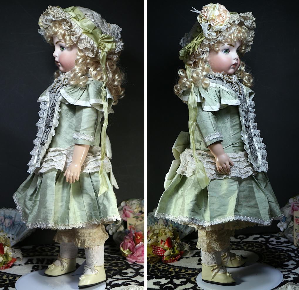 サンタSale♪オリーブの瞳 ブリュ by英国作家さま約60cm/SDジュモー 西洋骨董 市松人形 ゴシックロリータ服 etc.愛好家にも_画像2