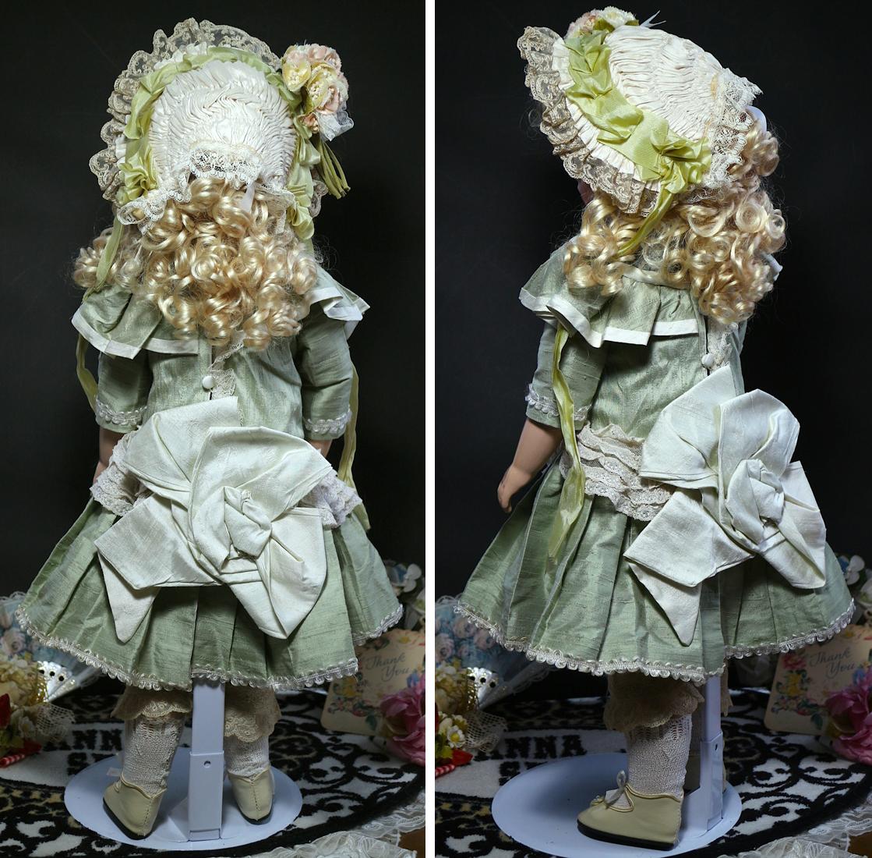 サンタSale♪オリーブの瞳 ブリュ by英国作家さま約60cm/SDジュモー 西洋骨董 市松人形 ゴシックロリータ服 etc.愛好家にも_画像3