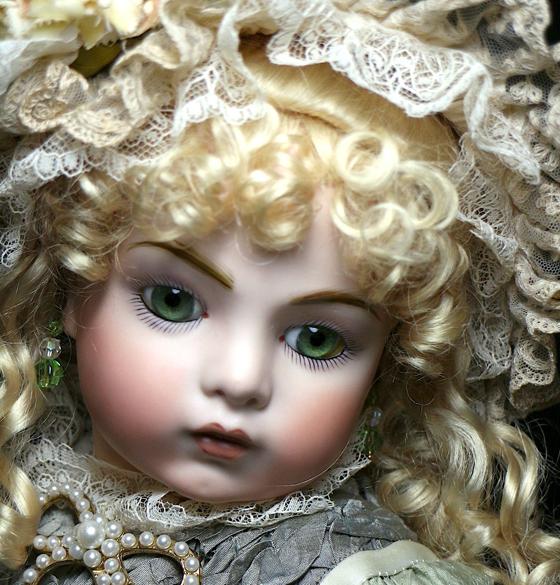 サンタSale♪オリーブの瞳 ブリュ by英国作家さま約60cm/SDジュモー 西洋骨董 市松人形 ゴシックロリータ服 etc.愛好家にも