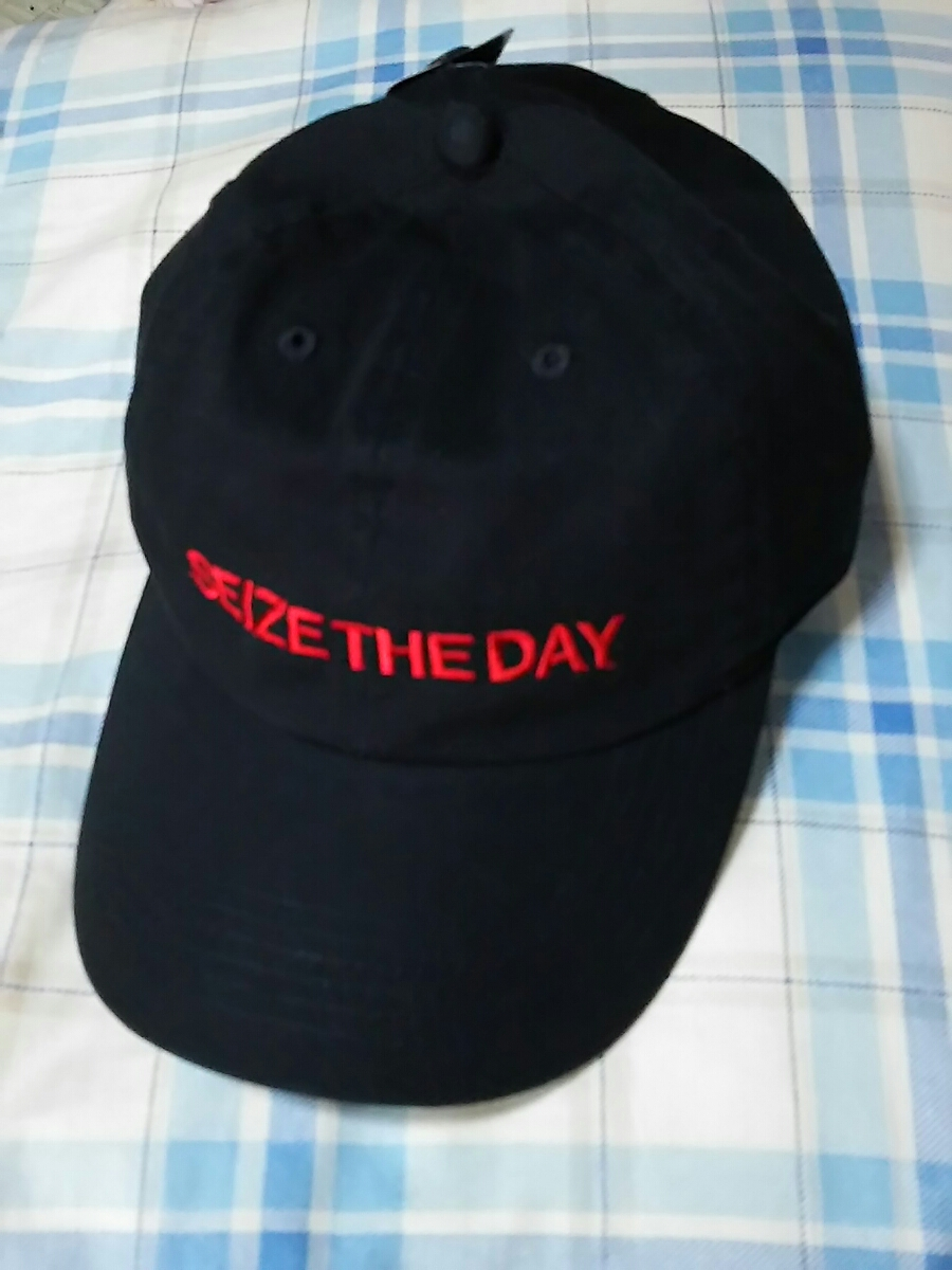 尾崎裕哉 SEIZE THE DAY ツアーグッズ CAP キャップ ブラック フリーサイズ
