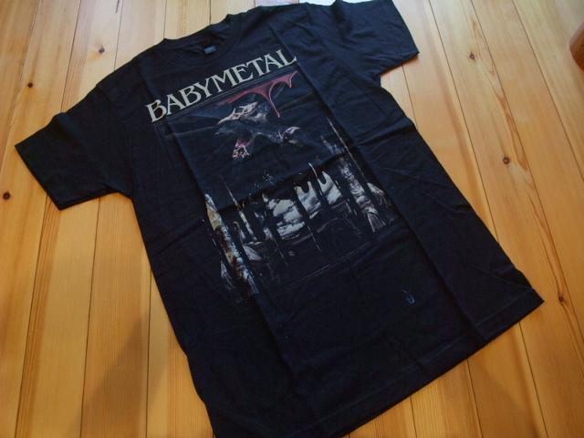 送料¥0!貴重 Mサイズ 2016年 BABYMETAL NOIR Tシャツ 公式 WORLD TOUR 2016 USツアー限定 ベビーメタル ノイアー BABY METAL メギツネfox_画像1