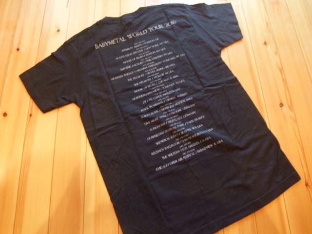 送料¥0!貴重 Mサイズ 2016年 BABYMETAL NOIR Tシャツ 公式 WORLD TOUR 2016 USツアー限定 ベビーメタル ノイアー BABY METAL メギツネfox_画像2
