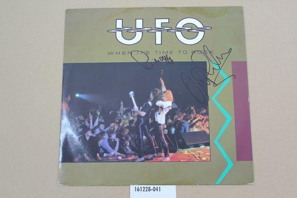 メンバーサイン入/UFO/when it's time to rock/フィル・モグ アンディ・パーカー/UK盤/LP/161228-041-80