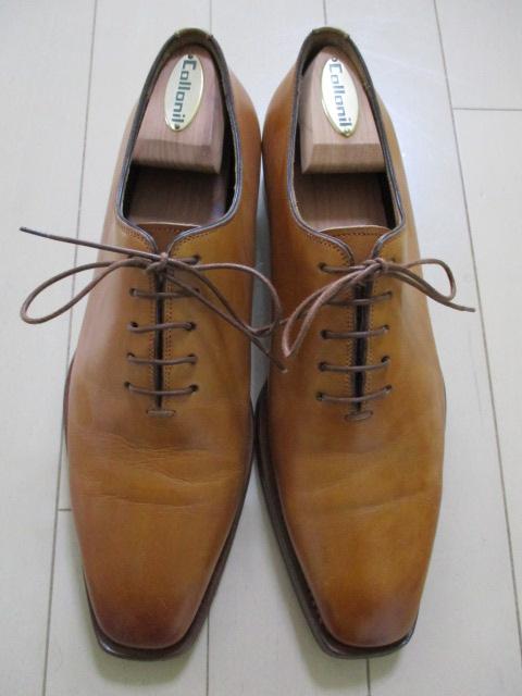 極美品 サントーニ 5 santoni 茶 革靴 レザーシューズ 25cm-25.5cm イタリア製 made in Italy ブラウン_画像2