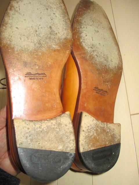 極美品 サントーニ 5 santoni 茶 革靴 レザーシューズ 25cm-25.5cm イタリア製 made in Italy ブラウン_画像5