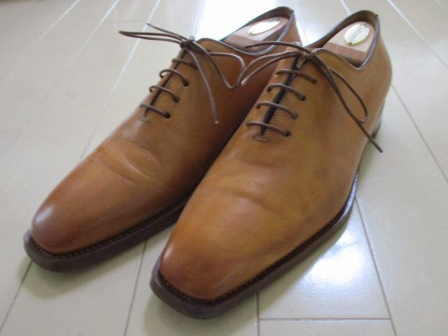 極美品 サントーニ 5 santoni 茶 革靴 レザーシューズ 25cm-25.5cm イタリア製 made in Italy ブラウン_画像1