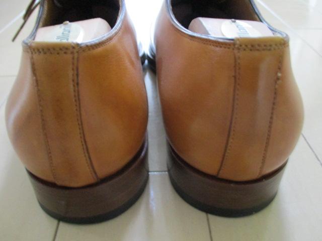 極美品 サントーニ 5 santoni 茶 革靴 レザーシューズ 25cm-25.5cm イタリア製 made in Italy ブラウン_画像3