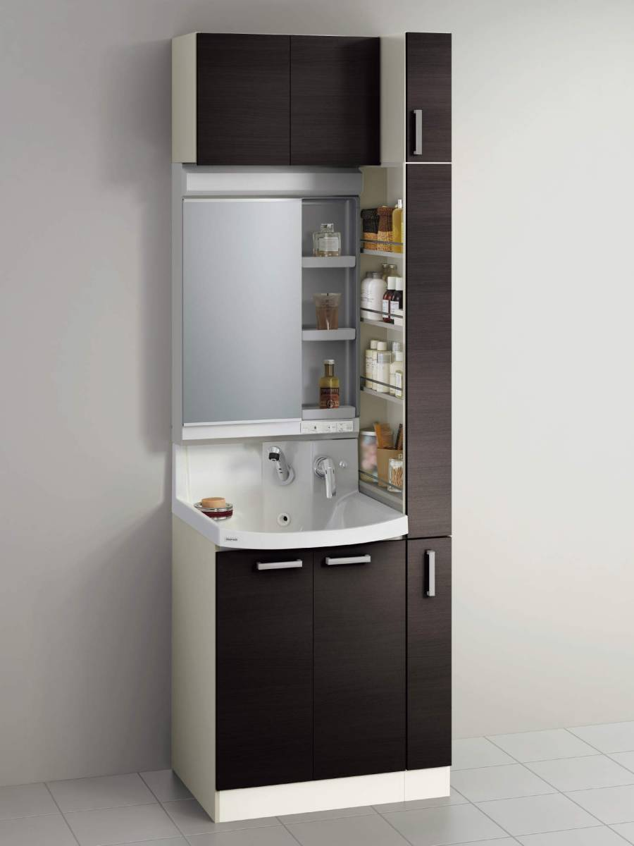 24 洗面台・ファンシオW750(開きタイプ・1面鏡) ◆クリナップ