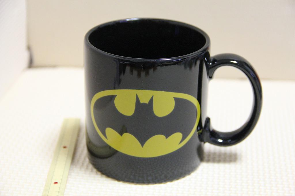 未使用 陶器製 バットマン Batman マグカップ applause 検索 DCコミック 当時物 コップ マグ ロゴ マーク グッズの画像