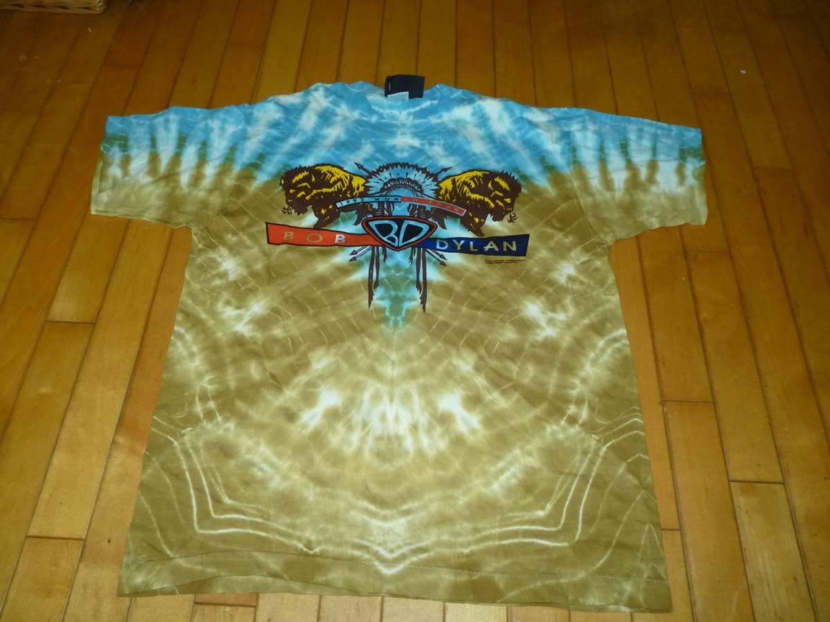 即決●未使用品 BOB DYLAN ボブディラン 93年TOUR Tシャツ L タイダイ