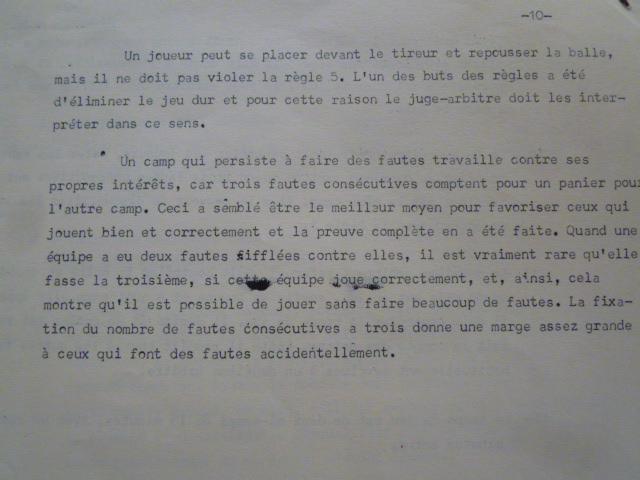歴史的文書【バスケットボールルール仏語版1892年】ネイスミス著 ヨーロッパに初めて普及したフランスの超稀珍品なバスケットボールルール_最後のページ