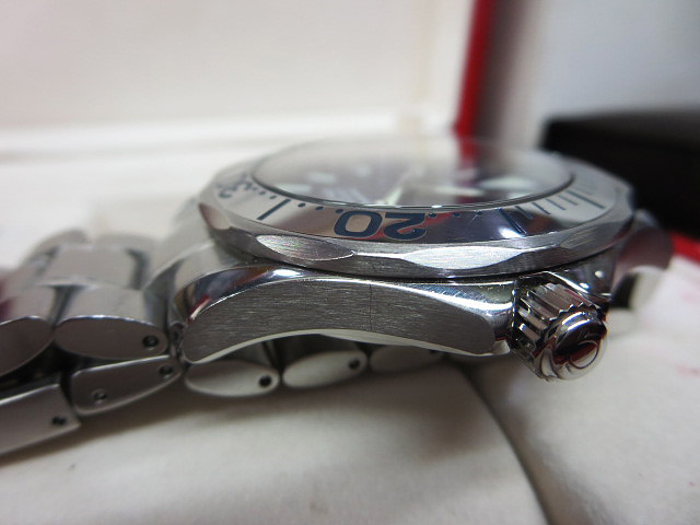 S1018 中古 オメガ シーマスター300 プロフェッショナル ネイビー メンズ 腕時計 OMEGA ケース/外箱/取説付_画像5