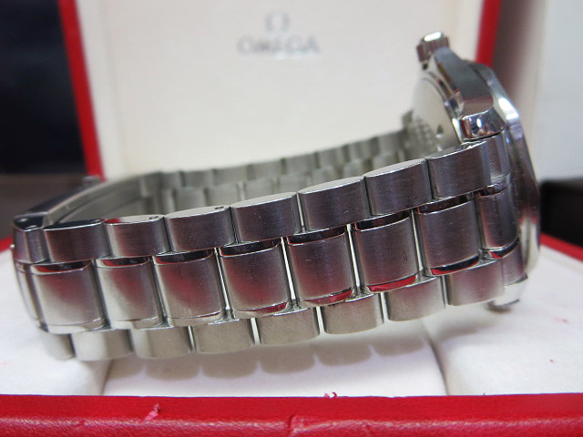 S1018 中古 オメガ シーマスター300 プロフェッショナル ネイビー メンズ 腕時計 OMEGA ケース/外箱/取説付_画像8