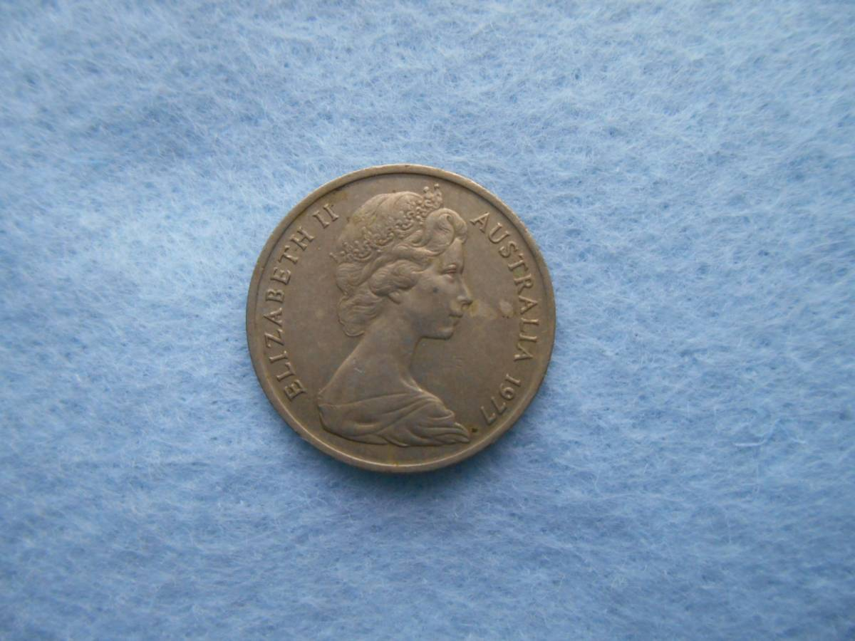 In 1977, issued by the Australian 5 cent coin