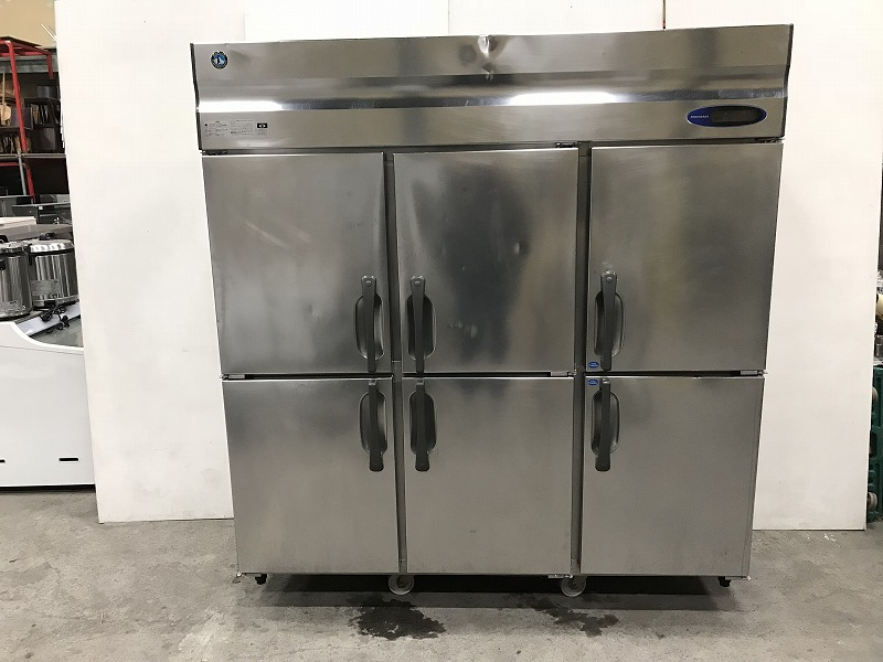 K-157 2014年製 ホシザキ 6ドア冷凍冷蔵庫 HRF-180LZFT3 横1800×奥650×高さ1880mm 3相200V 業務用 中古 動作確認済み