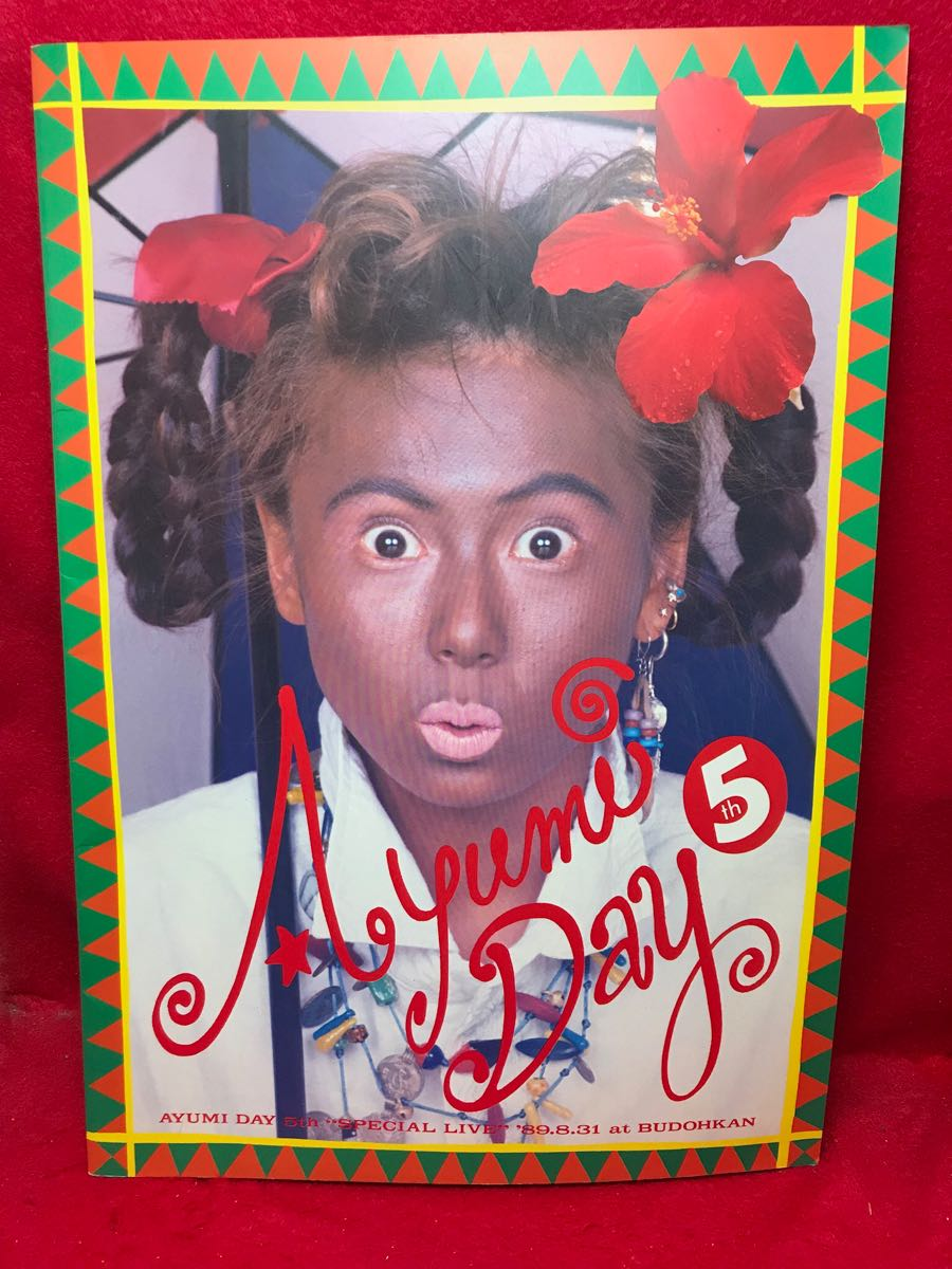 ○中村あゆみ AYUMI DAY 5th SPECIAL LIVE 1989.8.3 at BUDOHKAN パンフレット