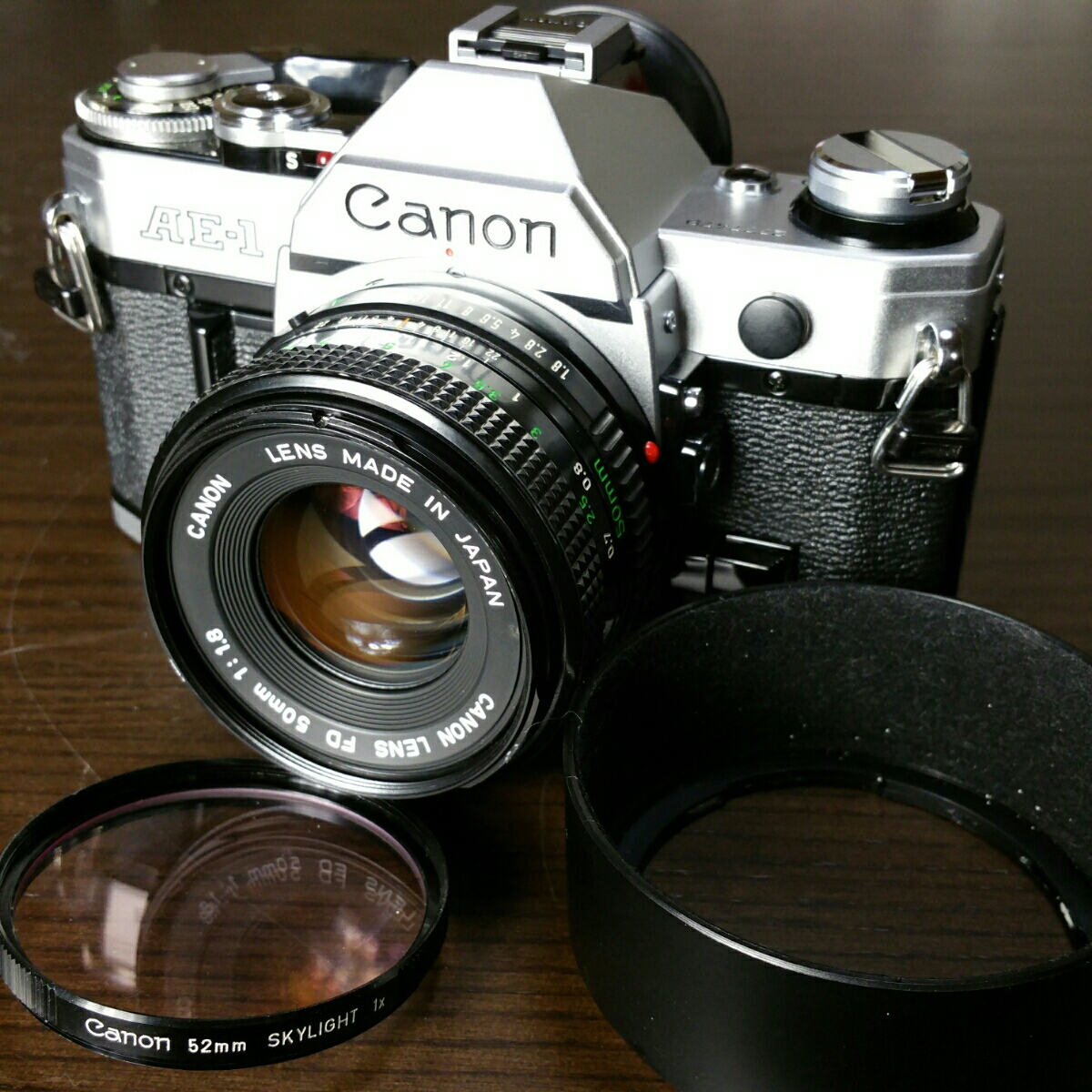【ジャンク市】CANON AE-1 FD 50mm 1.8 純正フィルター フード BS-52 :#31