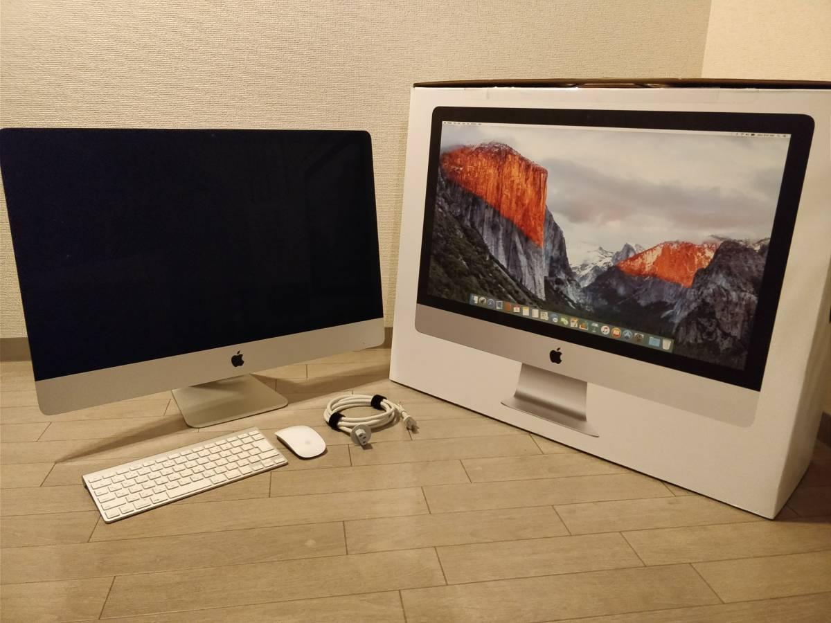 iMac27 Retina 5K Mid2015 Core i5 3.3GHz, HDD 3TB, メモリ12GB, macOS High Sierra