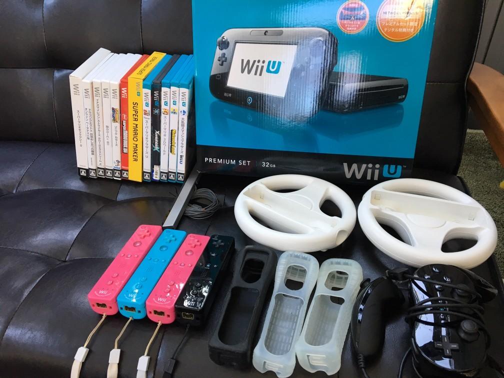 WiiU プレミアムセット 32G 黒 中古 ソフトおまけ付き スマッシュブラザーズ 送料無料