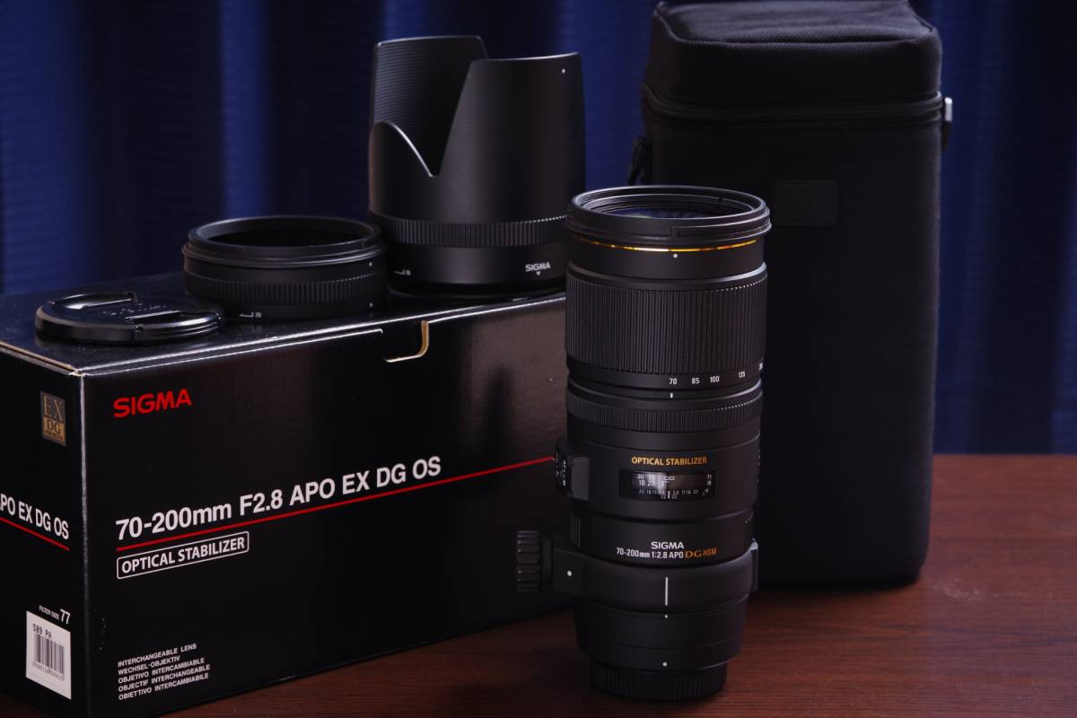 SIGMA APO 70-200mm F2.8 EX DG OS HSM for PENTAX 中古 送料無料 K-1対策済【ペンタックス用シグマレンズ】
