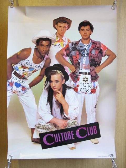 カルチャー・クラブ ロック・バンド ポスター 検索:歌手 ミュージシャン レコード販促品 70~80年代 海外 ボーイ・ジョージ