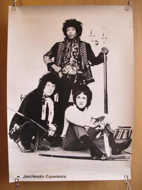 ジミ・ヘンドリックス・エクスペリエンス ロック・バンド ポスター 検索:歌手 ミュージシャン レコード販促品 60年代 海外 ジミヘン