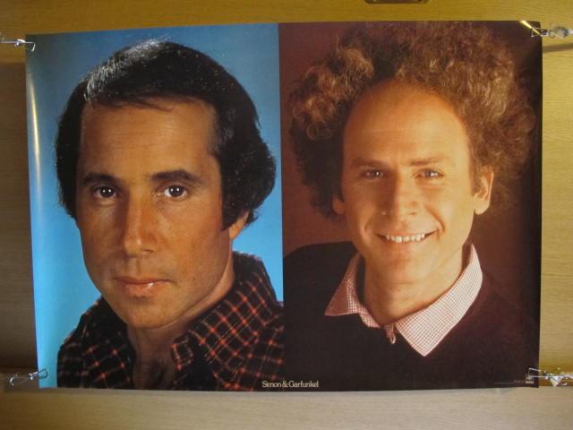 状態良好【ポスター】サイモン&ガーファンクル フォーク ロック バンド 検索:歌手 ミュージシャン レコード 販促品 70年代