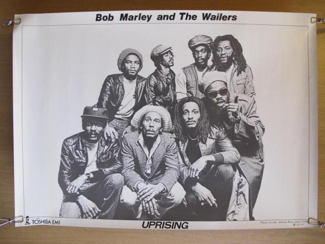 ボブ・マーリー&ザ・ウェイラーズ レゲエバンド ポスター 検索:歌手 ミュージシャン レコード販促品 70~80年代 ジャマイカ