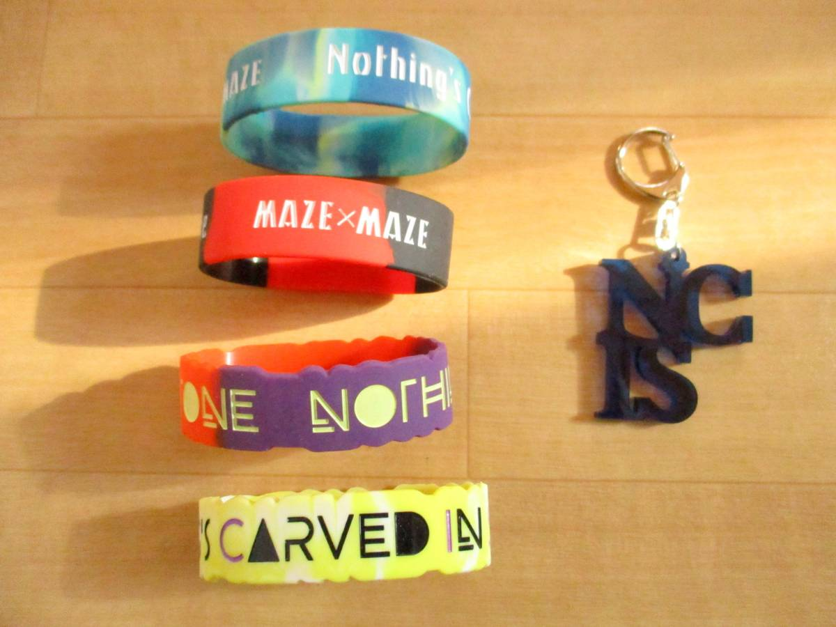 Nothing's Carved In Stone キーホルダー・ラバーバンド 4本 美品 グッズ