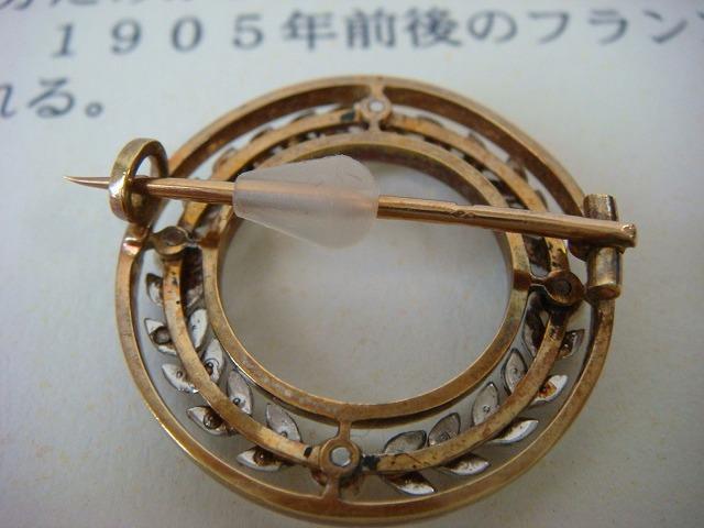 ◎アンティーク エドワーディアン期 ダイヤ&真珠 ブローチ◎_画像9