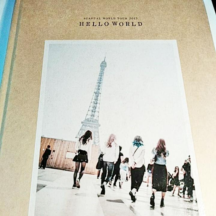 SCANDAL WORLD TOUR2015 HELLO WORLD 写真集 美品