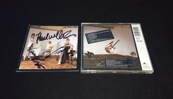 【送料着払】 ザ・ジャム The Jam 直筆サイン CD / Paul Weller