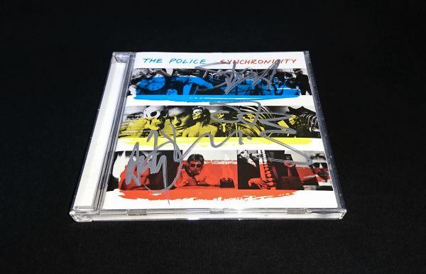 【送料着払】 ポリス The Police 直筆サイン CD / Synchronicity / スティング Sting