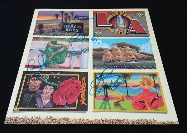 【送料着払】 ザ・ビーチ・ボーイズ The Beach Boys 直筆サイン レコード