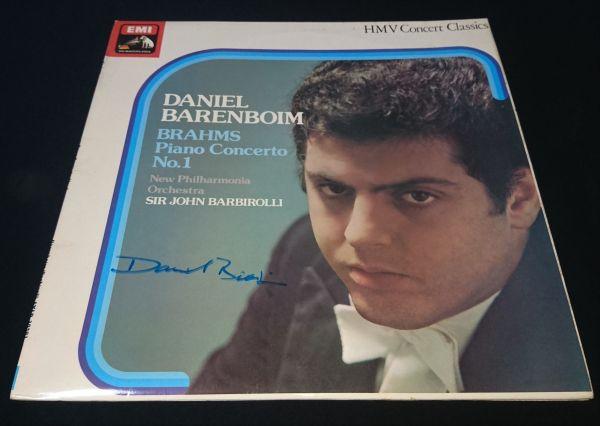 【送料着払】 ダニエル・バレンボイム Daniel Barenboim 直筆サイン クラシック LP レコード