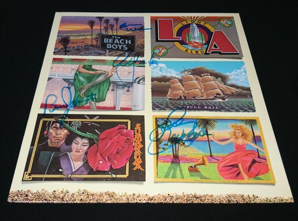 【送料着払】 ザ・ビーチ・ボーイズ The Beach Boys 直筆サイン LP レコード / L.A. ライト・アルバム