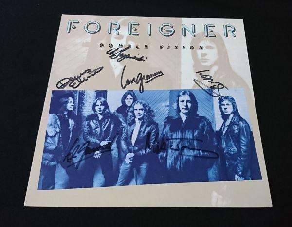 【送料着払】 フォリナー Foreigner 直筆サイン LP レコード