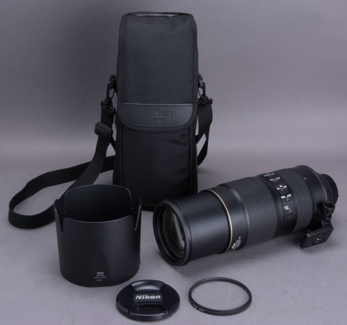 Nikon AF-S NIKKOR 80-400mm f/4.5-5.6G ED VR フード・プロテクター・ケース付 望遠ズームレンズ ニコン 撮影機材 一眼レフ カメラ