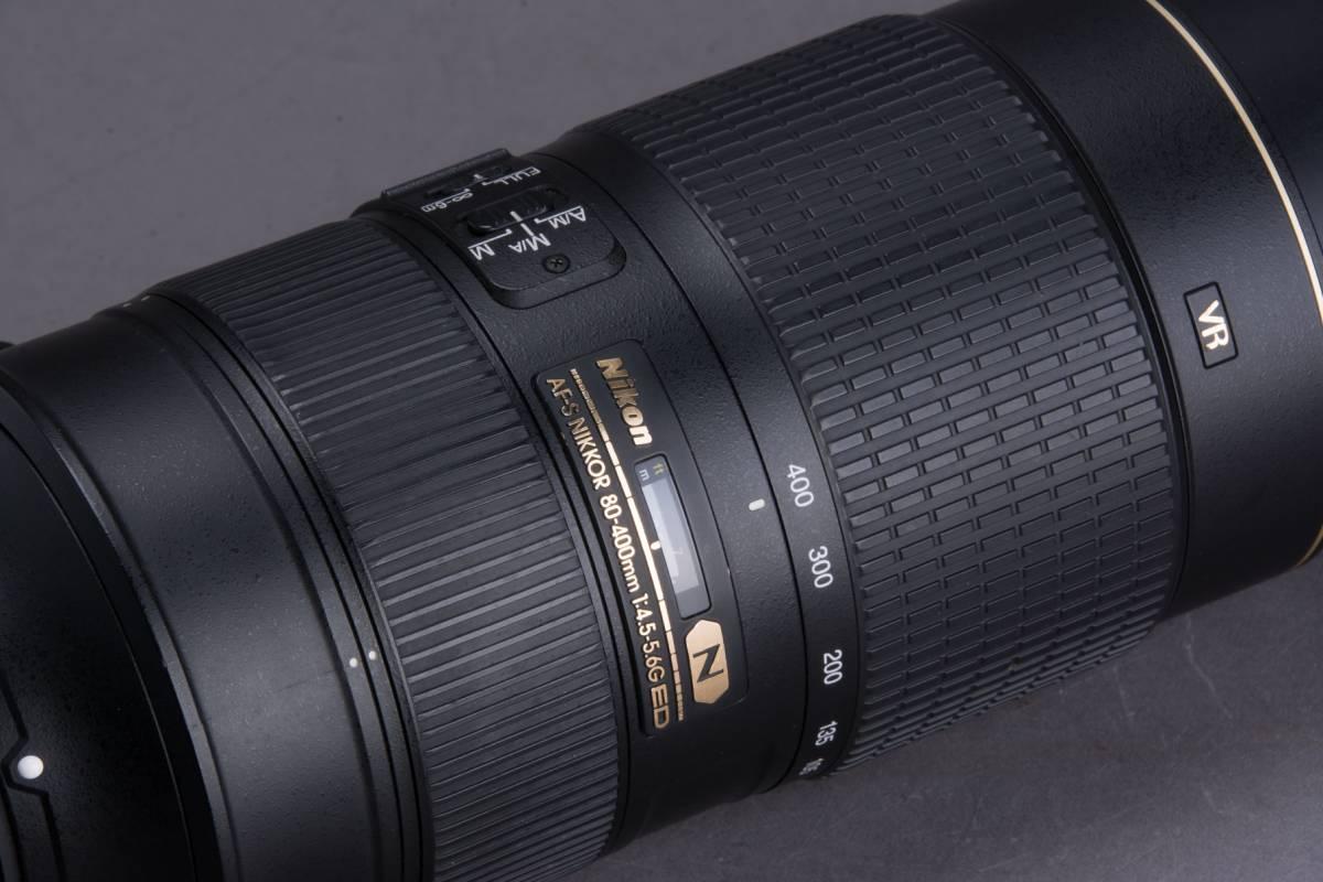 Nikon AF-S NIKKOR 80-400mm f/4.5-5.6G ED VR フード・プロテクター・ケース付 望遠ズームレンズ ニコン 撮影機材 一眼レフ カメラ_画像6