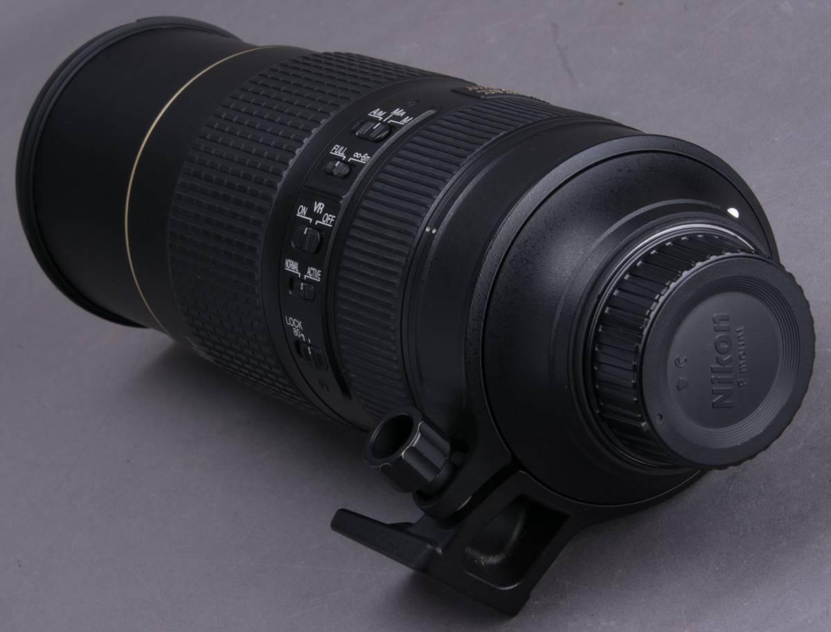 Nikon AF-S NIKKOR 80-400mm f/4.5-5.6G ED VR フード・プロテクター・ケース付 望遠ズームレンズ ニコン 撮影機材 一眼レフ カメラ_画像7