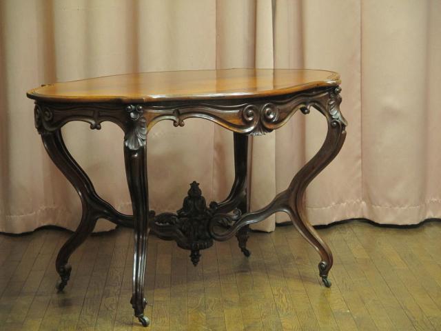 英国 イギリス アンティーク マホガニー 無垢材 ヴィクトリアン様式 テーブル/西洋