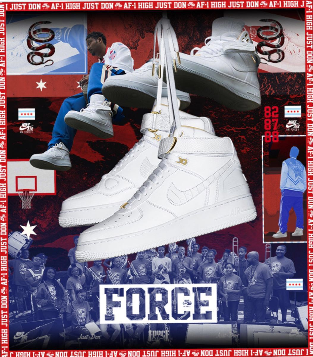 27.5cm 確実正規品 即発送可 Nike Air Force 1 High Just Don US9.5 Don C AO1074-100 ジャスト ドン 白 white ジャストドン