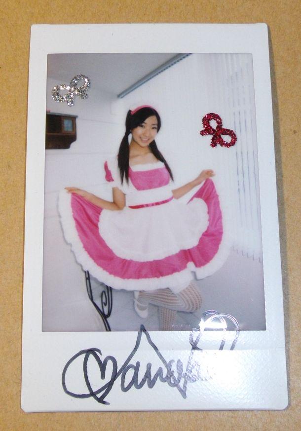 守永七彩 直筆サイン入りチェキ デコチェキ  ジュニアアイドル 女子中学生   美少女 Party Rockets GT ポラ