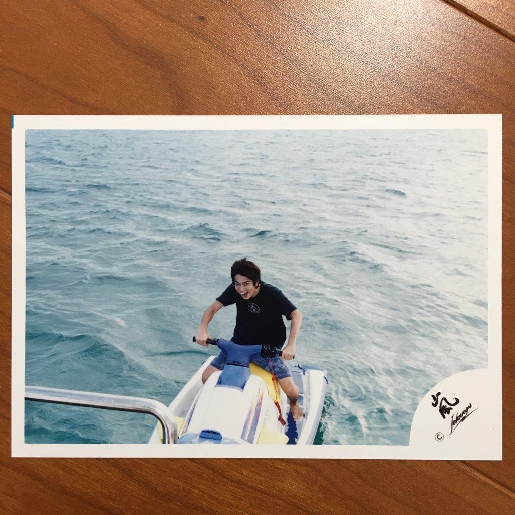 ★即決¥1000★ 嵐 公式写真 2547 ★ 松本潤 / ハワイ デビュー 当時 貴重 初期 / 嵐ロゴ 1枚