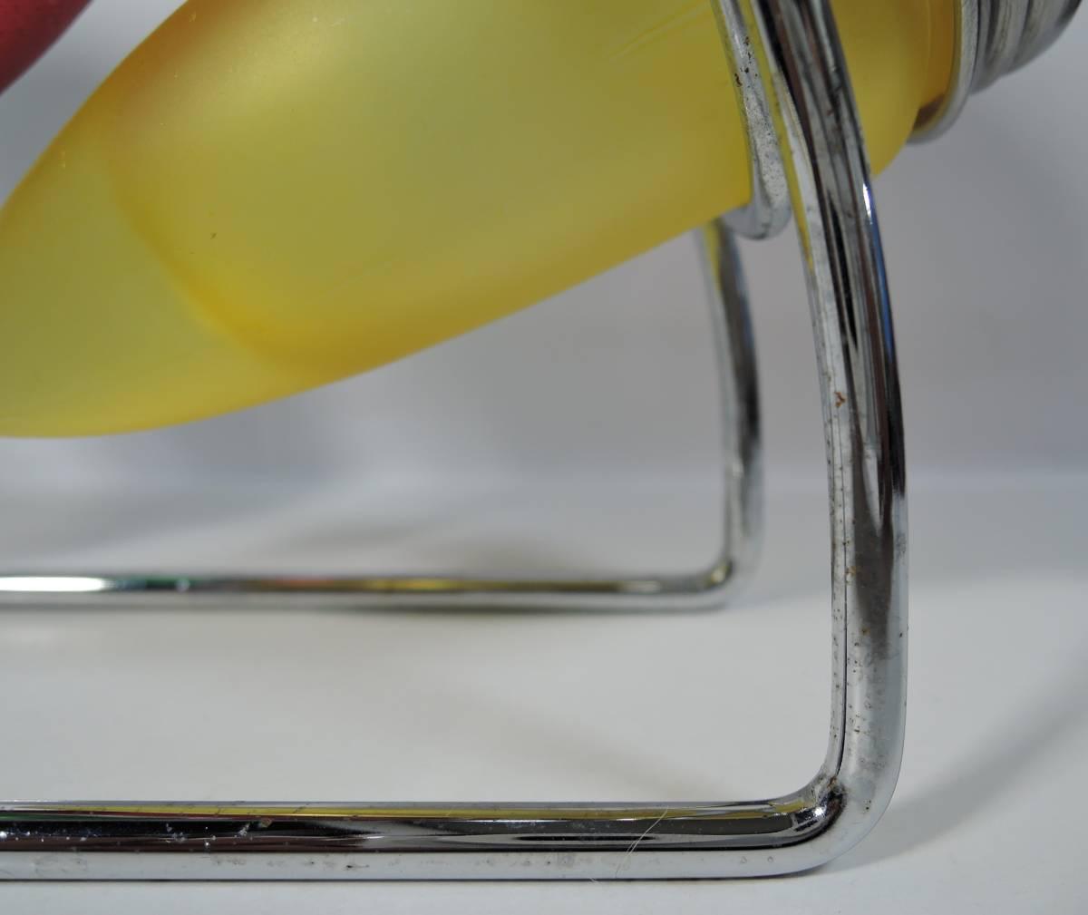 Y03■昭和レトロ カラフルガラス瓶 調味料入 ラック付■_画像10