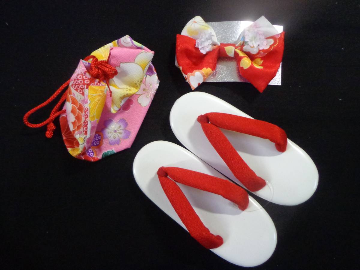 NO310【新品】 被布コートセット(日本製)花柄・ピンク地 三才用 七五三・お正月にも (※画像たくさんあります!_画像2