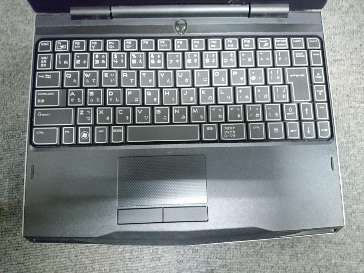 エイリアンウェア ARIENWARE M11X Windows7 corei7 メモリ4GB HDDなし ヒンジ割れ ジャンクで_画像3