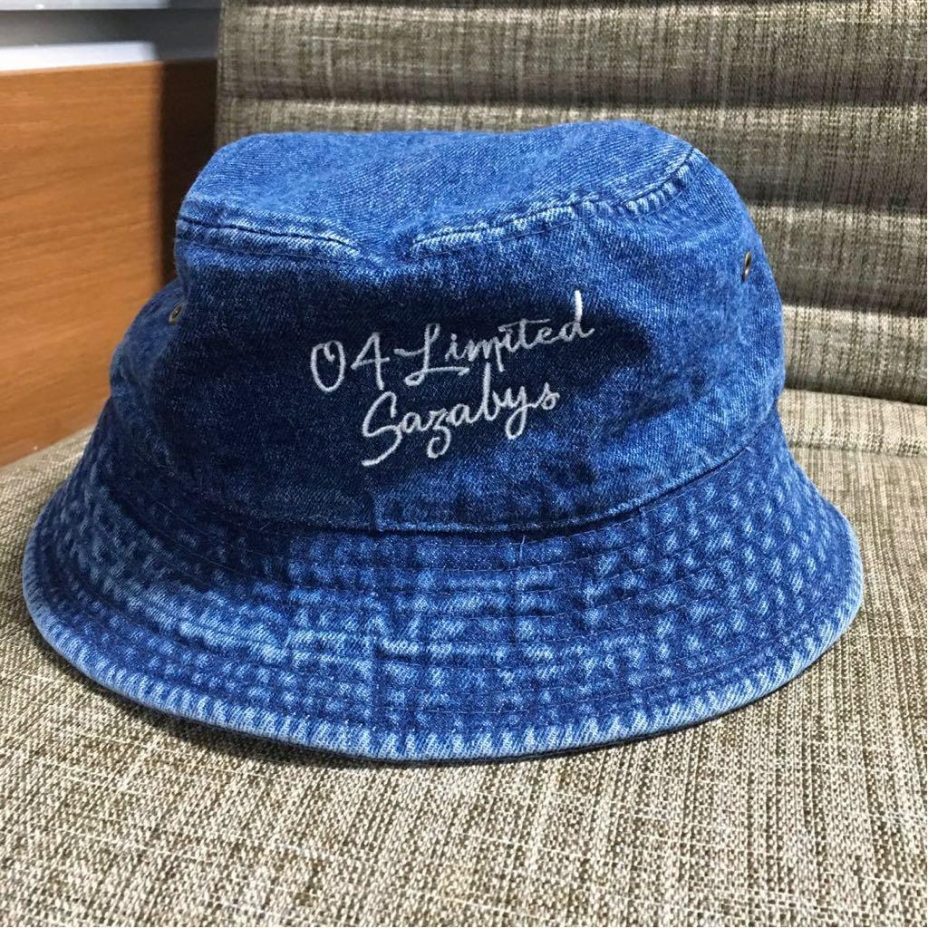 04 LIMITED SAZABYS バケットハット デニム生地 フォーリミ 帽子
