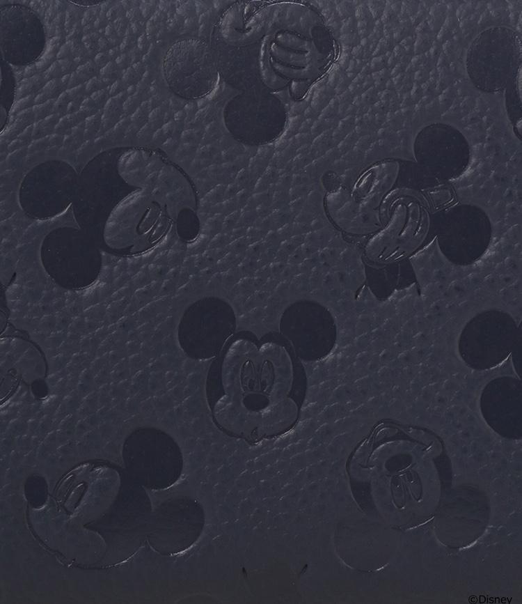 新品 3年保証付★サマンサキングズ&ディズニー★ミッキー 型押 ラウンド長財布★紺 ネイビー_画像5