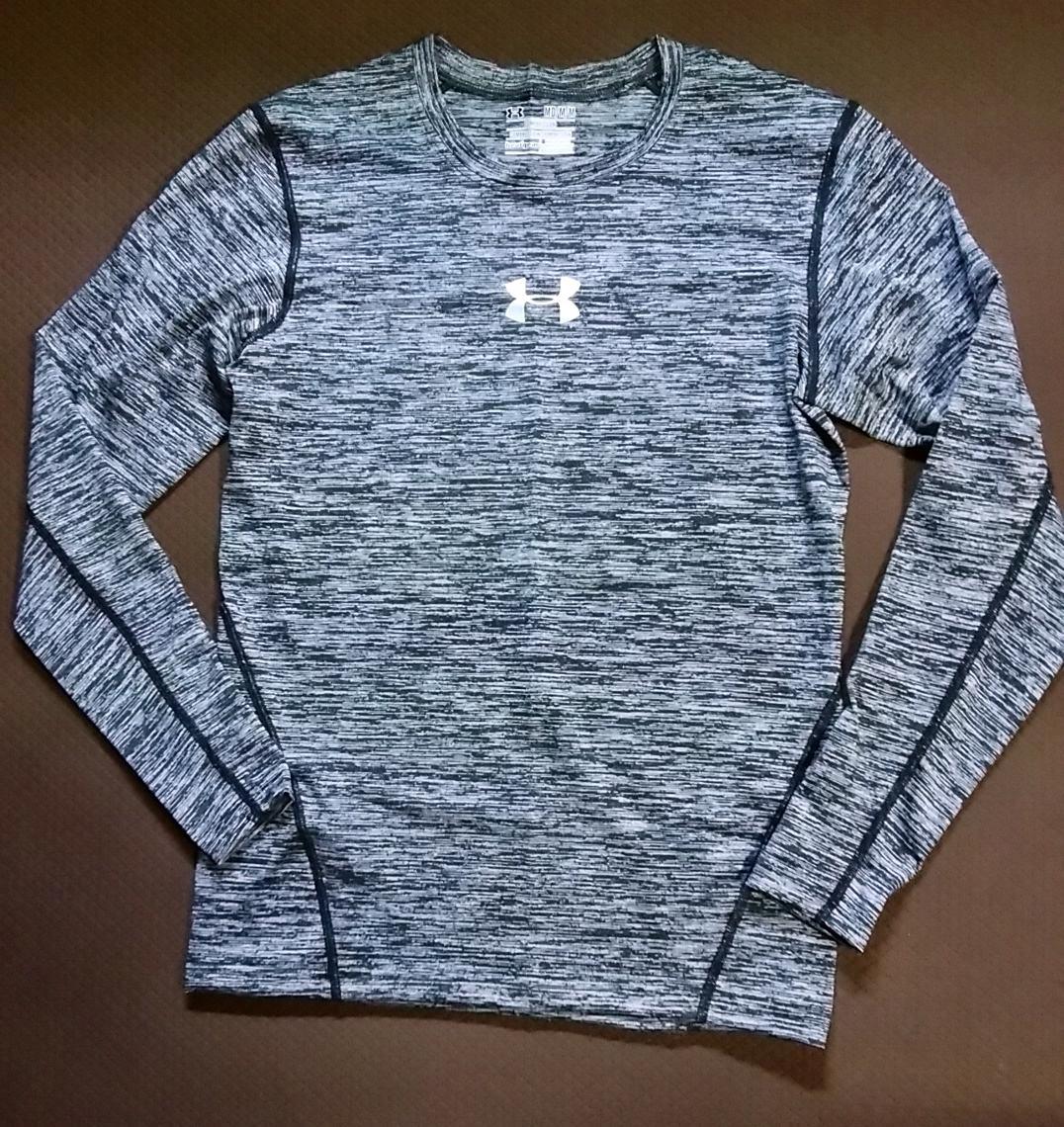 【サイズL】 送料込 アンダーアーマー コンプレッション 長袖 ヒートギア (UA ランニング フィットネス Tシャツ インナー )